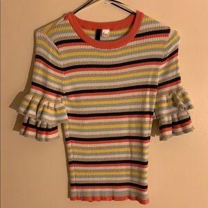 Striped Half sleeve Knit shirt
